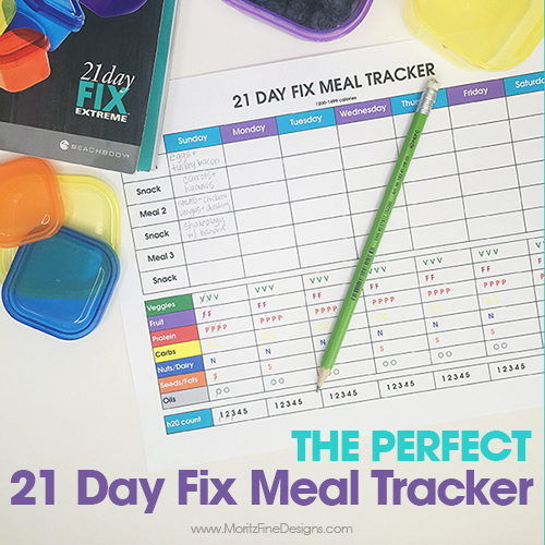 21 Day Fix Meal Tracker Printable