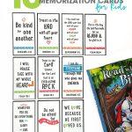 10 Bible Verse Memorization Cards for Kids   Bible Memory Cards   inspirational Bible Verses   free printable