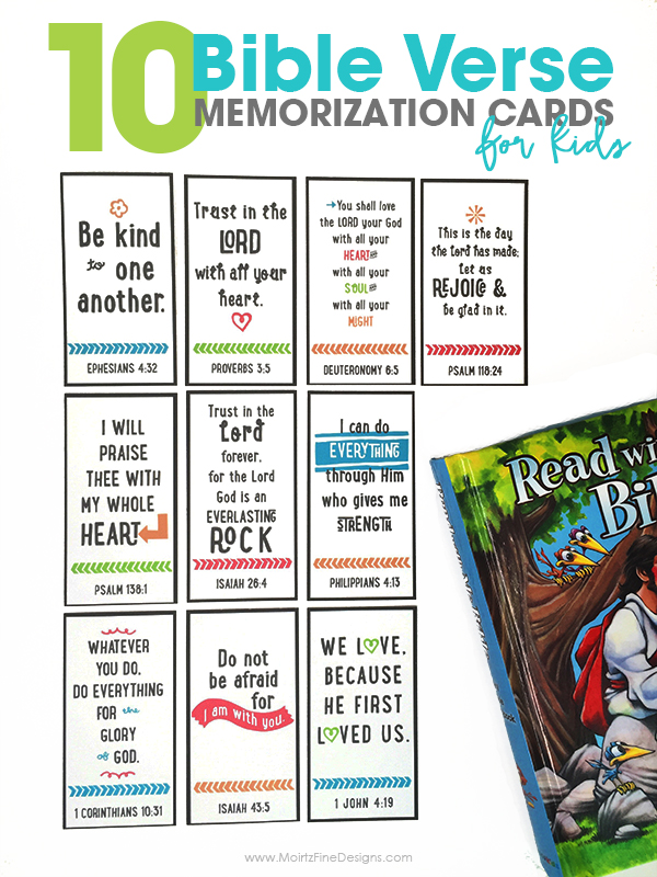 photo about Printable Bible Verses titled 10 Bible Verse Memorization Playing cards for Little ones Cost-free Printable