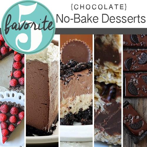 No Bake Chocolate Desserts | Friday Favorite 5
