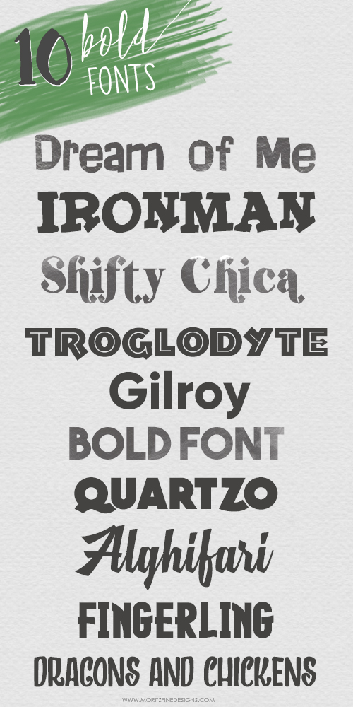 Attention font lovers, this is an amazing list of the 10 Best Free Bold Fonts. Don't miss out on these wonderful bold fonts.