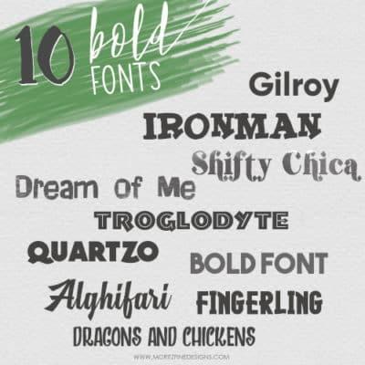 Best Free Bold Fonts