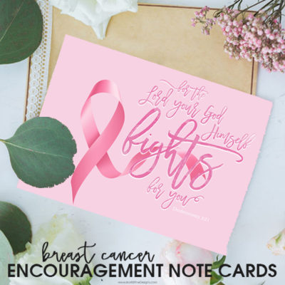 Breast Cancer Printable and Note Cards