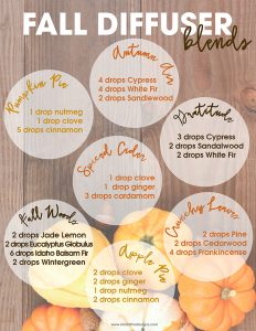 Put those candles aways and use non-toxic essential oils to fill your home with the smell of fall.