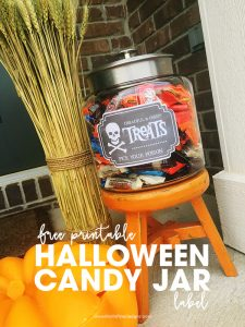 Halloween printables | Halloween label | Printables for Halloween | DIY Halloween candy jar | free printable