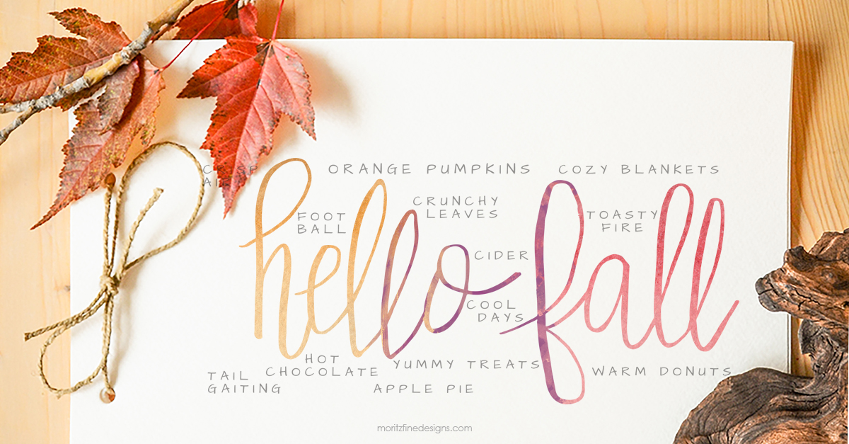 Hello Fall Watercolor Printable Moritz Fine Designs
