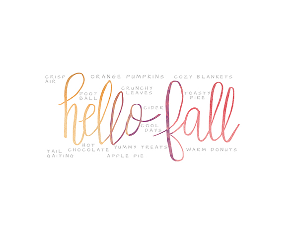 image about Printable Fall Decorations called Hello there Slide Watercolor Printable Moritz Great Ideas