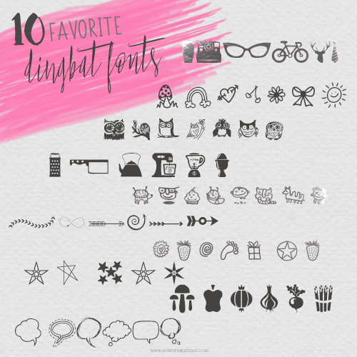 10 Favorite Dingbat Fonts
