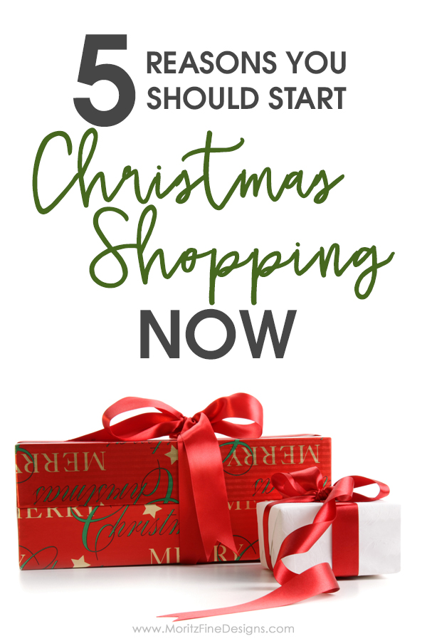 Want to breeze through December and enjoy the holidays stress free? Follow these 5 must-read reasons you need to start your Christmas shopping now.