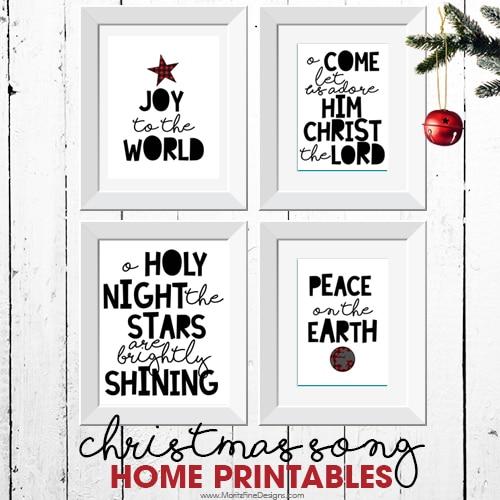 Christmas Song Home Printables