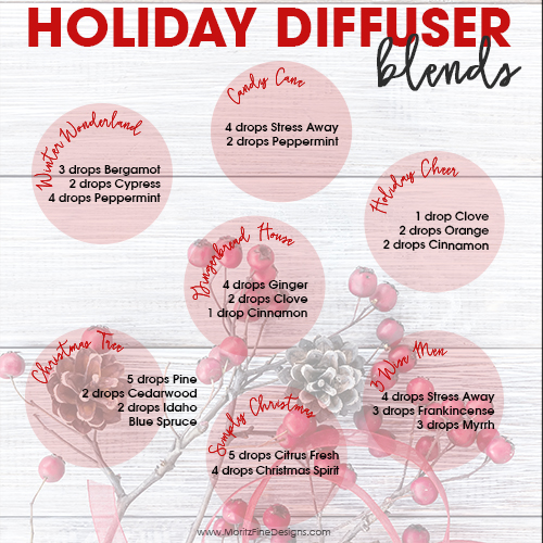 Holiday Diffuser Essential Oil Blends