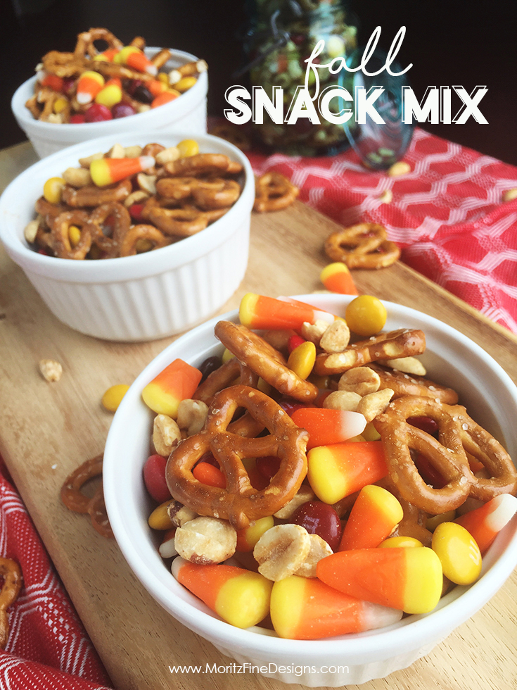 Everyone loves this easy Fall Snack Mix. it's the perfect combination of salty and sweet and you can make it in just a few quick minutes.
