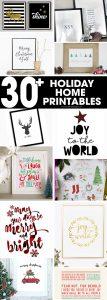 Christmas home decor | Christmas printable signs | Christmas printables | printable signs | free printables