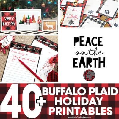40+ Buffalo Check Plaid Free Printables