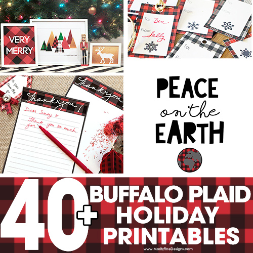40+ Buffalo Check Plaid Free Printables