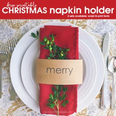 Free Printable Christmas Napkin Holder