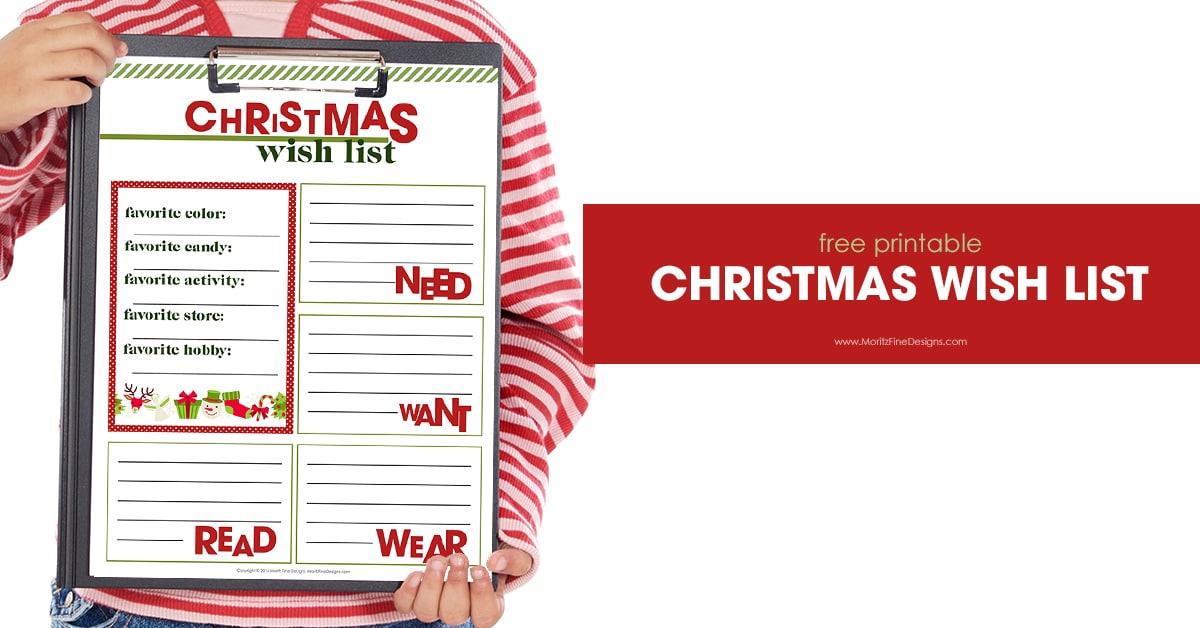 Christmas Wish List Printable | Free Printable Included