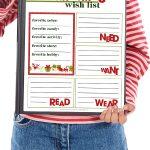 printable Christmas wish list | holiday wish list | kids wish list | Christmas printable | free printable