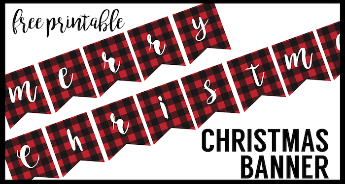 Ridiculous image regarding free printable christmas banner