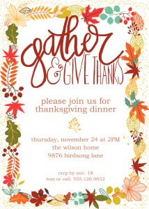 These Free printable Thanksgiving invitations are the perfect way to start your Thanksgiving party. Easy DIY to download, customize and print. #thanksgivinginvitations