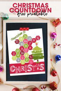 Christmas countdown | DIY Christmas calendar countdown | Christmas Ideas | Christmas printables | free printable