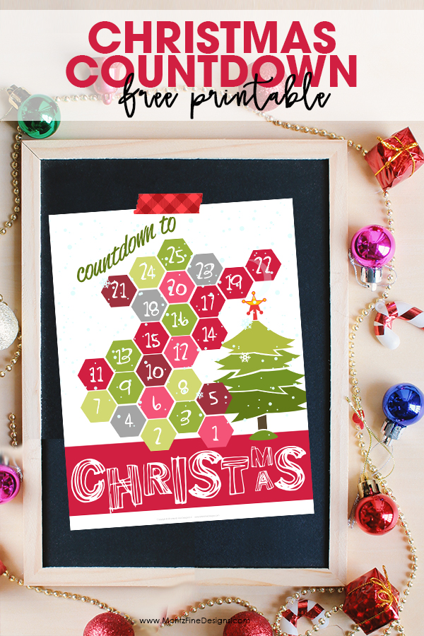 graphic regarding Christmas Countdown Printable known as Xmas Countdown Printable Cost-free Printable Provided