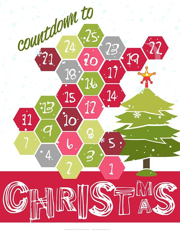 photograph relating to Printable Christmas Countdown named Xmas Countdown Printable No cost Printable Provided