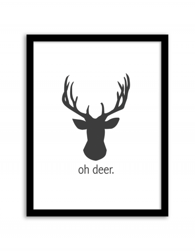 Wall Art Of Deer : Christmas home printables free included