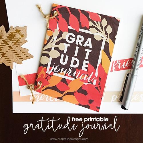 DIY Gratitude Journal {Free Printable}