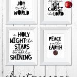 Christmas decor | Christmas printables | Christmas song printables | holiday printables | free printable