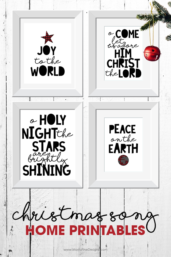 Christmas decor | Christmas printables | Christmas song printables | holiday printables | free printable