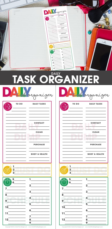 free printable | blogging | daily organizer | organizer printable | daily to do list