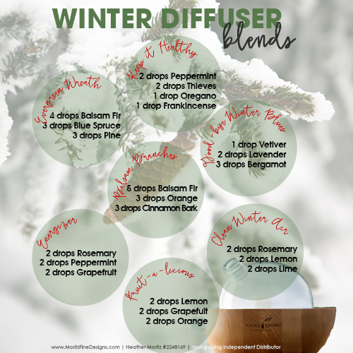 Winter Diffuser Essential Oil Blends | Free Printable