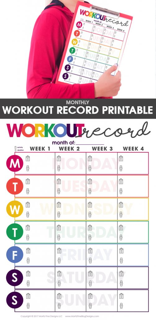 Wild image with workout tracker printable