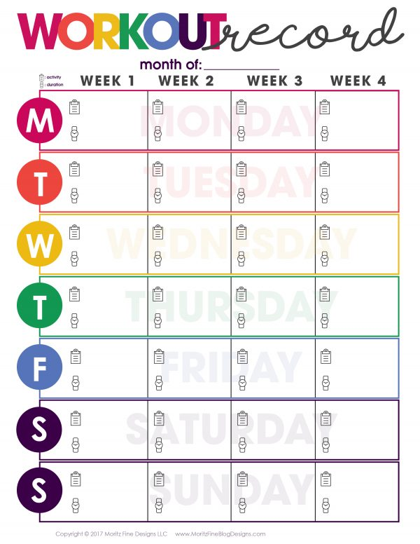 Using a Workout Record Fitness Tracker and writing down each workout is motivating and allows you to be more successful in progressing along.