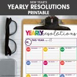 Free Printable Yearly Resolutions