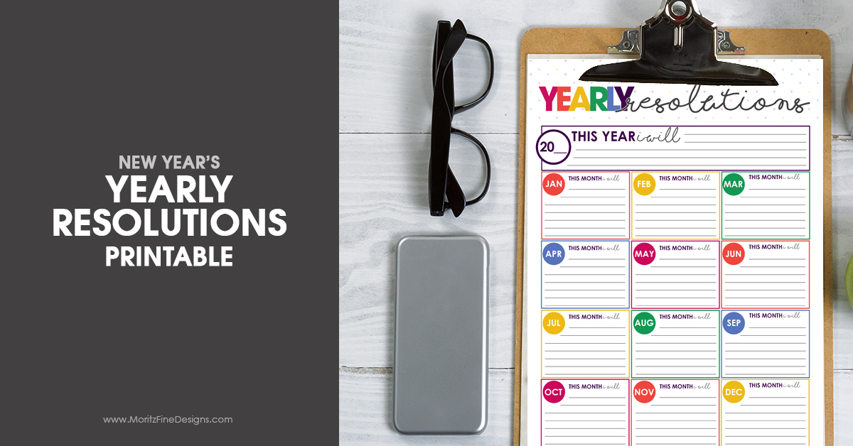 Make your New Year's Resolutions achievable with the Free New Year's Resolutions Printable. Set your yearly and monthly goals and start your hustle.