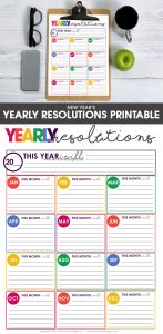 New Year's resolutions   New Year's Goals   New Years goal planning   goal planning worksheet   free printable