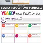 New Year's resolutions | New Year's Goals | New Years goal planning | goal planning worksheet | free printable