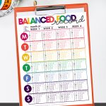 balanced food tracker record | diet tips & ideas | eating well | free printable | dieting tips
