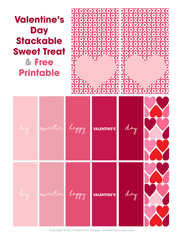 Valentine's Day Treat   Free Printable for Valentine's Day   Fun Valentine's Day snack for kids & adults