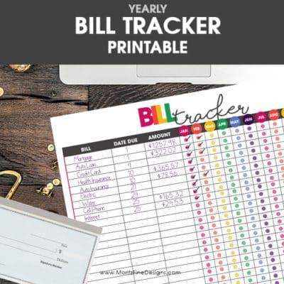 Free Printable Bill Tracker
