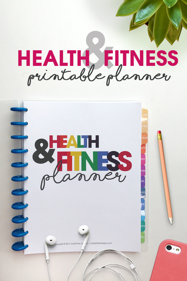 health & fitness planner | printable | organizational printables | weight loss tracker