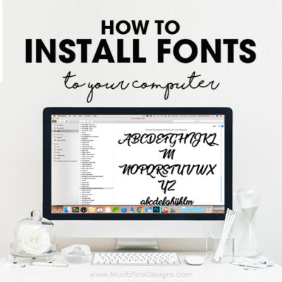 How To Install Fonts To Your Computer