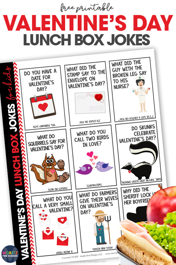 These funny, free printable Valentine's Day Lunchbox Jokes for kids will make your kids LOL each time they open their lunch!