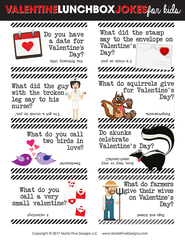 Valentineu0027s Day Lunch Box Jokes For Kids | Free Printable Jokes | Holiday  Ideas For Kids
