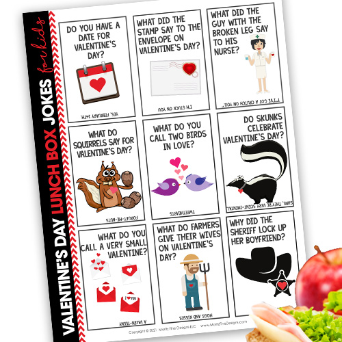 Valentine's Day Lunch Box Jokes for Kids