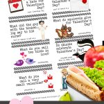 Valentine's Day Lunch Box Jokes for Kids | Free printable jokes | holiday ideas for kids | School Valentine
