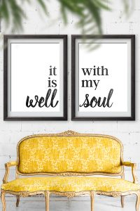 It Is Well With My Soul Sign | Free printables Signs | Home decor inspirational signs | oversized prints