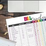 free printable bill tracker   financial organizer   money tracker   get life organized